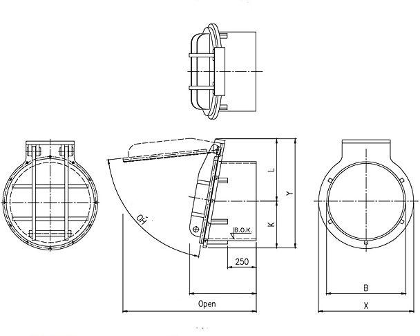 Flap Valve Hdpe Pressure Pipe Model